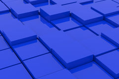 Abstract blue cubes. Background. 3D render image Royalty Free Stock Photo