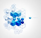 Abstract blue cubes background. Stock Photo