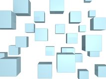 Abstract blue cubes stylish background Stock Photography