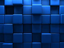 Abstract Blue Cubes Wall Background Royalty Free Stock Photos