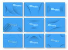 Abstract blue curve background with copy space for white text. S vector illustration