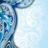 Abstract Blue Curve Background Stock Images