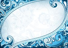 Abstract Blue Curve Frame Stock Photo