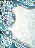 Abstract Blue Curve Stock Image