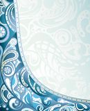 Abstract Blue Curve Stock Photography