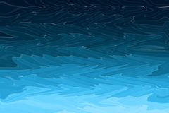 Abstract blue curve waves textured modern background. Ocean or sea storm waves. stock illustration