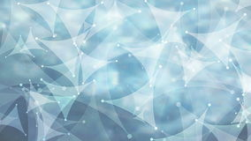 Abstract blue curved triangles low poly video animation stock footage