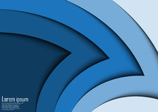 Abstract blue 3d arrow wave line certificate abstract background stock image