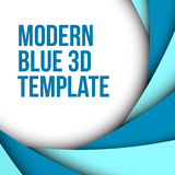 Abstract blue 3d background. With custom text Stock Illustration