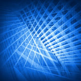 Abstract blue 3d background. With geometric pattern vector illustration
