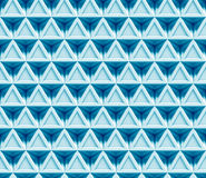 Abstract blue 3d background made of connected triangles (seamless) Stock Photography