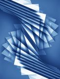 Abstract blue 3d background with polygonal pattern. Design element Royalty Free Stock Photography