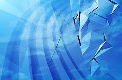 Abstract blue 3d background. Texture stock illustration