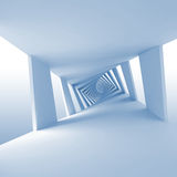 Abstract blue 3d background with twisted corridor Stock Photos