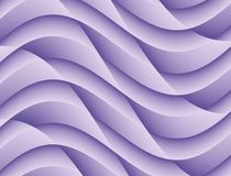 Abstract Lilac Blue 3D Curves Geometric Background stock illustration