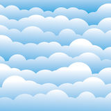 Abstract blue 3d fluffy clouds background (backdrop). Vector graphic. This illustration contains layers of clouds in light blue color Royalty Free Stock Photography