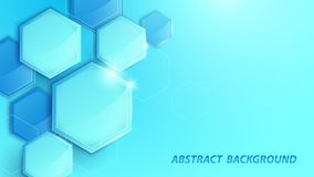 Abstract blue 3D geometric high-tech digital background royalty free stock photo