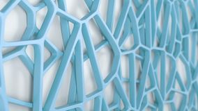 Abstract 3d grate on white background. Abstract blue 3d grate on white background. Speaker grille. Chaotic line structure. 3D render illustration royalty free illustration