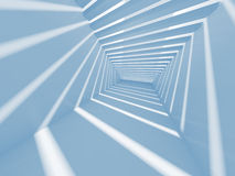 Abstract blue 3d interior background Stock Images