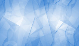 Abstract blue 3d polygonal surface background Royalty Free Stock Photos