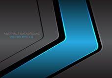 Abstract blue dark gray metal arrow design modern futuristic background vector. Illustration Stock Photos