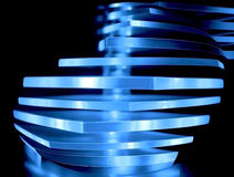Abstract blue decorative light. Made by polyester Stock Images