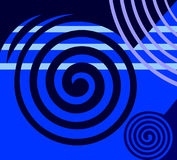 Abstract blue design. stock illustration