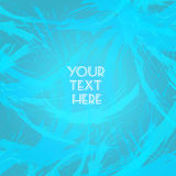 Abstract blue design with your text here big brush strokes Stock Photography