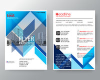 Abstract blue diagonal line Brochure annual report cover Flyer Poster design Layout template in A4 size stock illustration