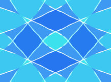 Abstract blue diamond pattern Stock Image