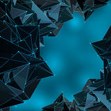 Abstract blue digital concept background. Royalty Free Stock Image
