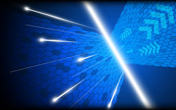 Abstract blue digital perspective design background. EPS 10 Vector Royalty Free Illustration