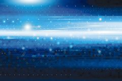 Abstract blue digital technology background. With copy space stock illustration