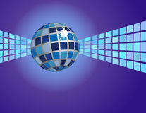 Abstract Blue Disco Ball Background. With copyspace suitable for flyers and posters Royalty Free Illustration