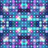 Abstract blue disco lights vector background Royalty Free Stock Images