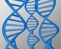 Abstract blue dna illustration. Abstract blue 3d dna illustration render Royalty Free Illustration