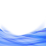 Abstract blue dot wave border background Stock Photo