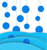 Abstract blue dots vector Stock Images