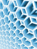 Abstract blue double honeycomb structure. 3d illustration, background texture Stock Image