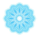 Abstract blue drawn pattern Stock Image