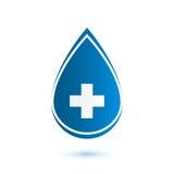 Abstract blue drop, medical symbol Stock Photos