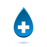 Abstract blue drop, medical symbol Stock Photo