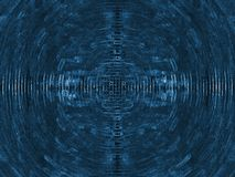 Abstract Blue Electric Circuit Future Technology Stock Image