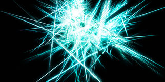 Abstract blue energy sharp lines Stock Photos