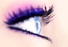 Abstract blue eye Royalty Free Stock Images