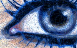 Abstract Blue Eye. Vector. Extreme close-up of a woman eye Royalty Free Stock Photography
