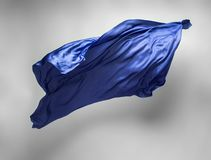 Abstract blue fabric in motion royalty free stock images