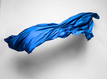 Abstract blue fabric in motion Royalty Free Stock Photography