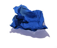 Abstract blue fabric in motion Stock Photography