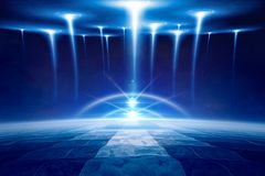 Abstract blue fantastic background stock image